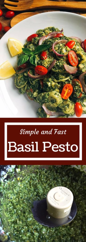 Simple and fast, this basil pesto is ready in just minutes! Full of ...