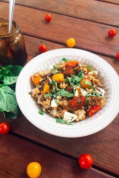 Balsamic Caprese Risotto