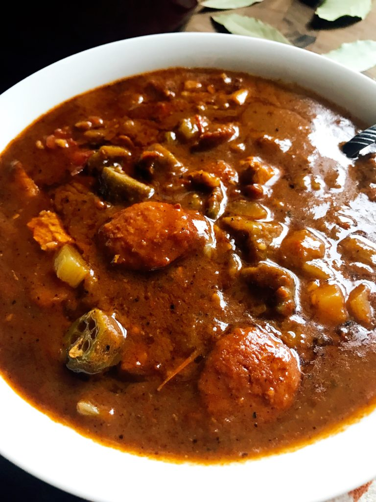 Authentic Chicken and Smoked Sausage Gumbo - Three Olives ...