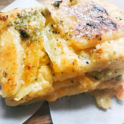 Broccoli Cheese Scalloped Potatoes