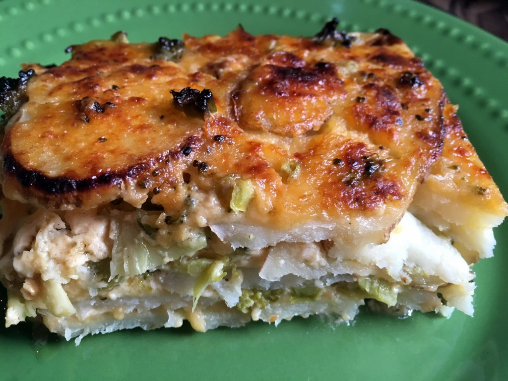 Broccoli Cheese Scalloped Potatoes | Three Olives Branch