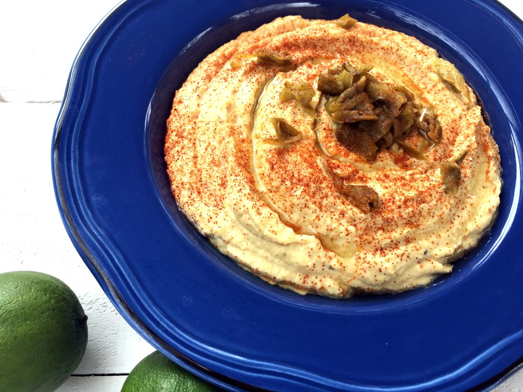Roasted Hatch Chile Hummus   Three Olives Branch