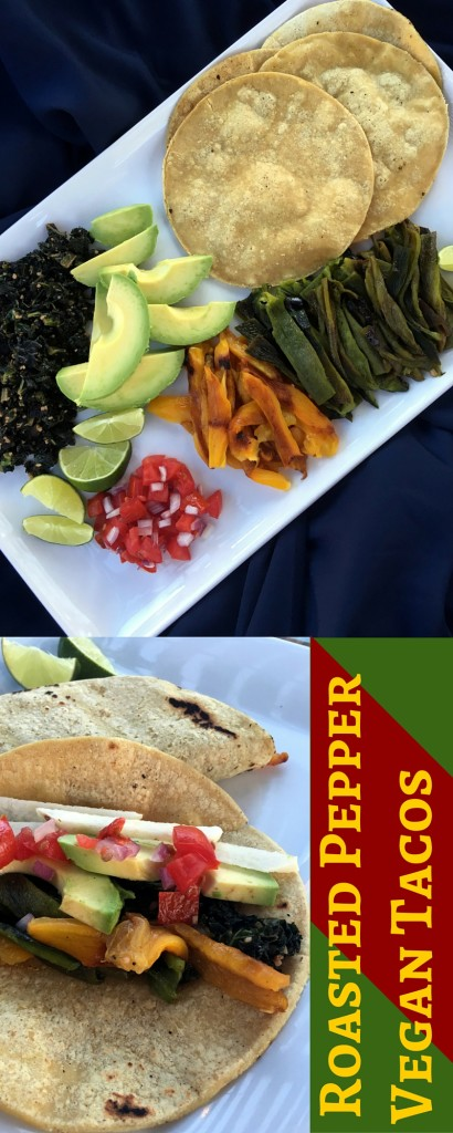 Roasted Pepper Vegan Tacos | Three Olives Branch