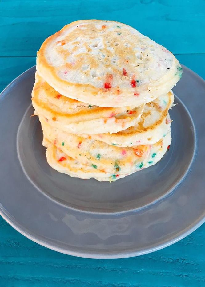 Birthday Pancakes with Cream Cheese Glaze | Three Olives Branch