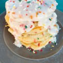 Birthday Pancakes with Cream Cheese Glaze