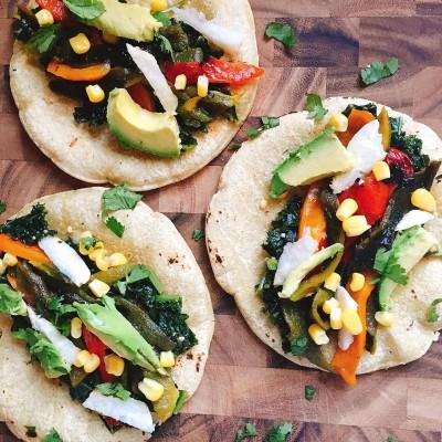 Vegan Roasted Pepper Tacos