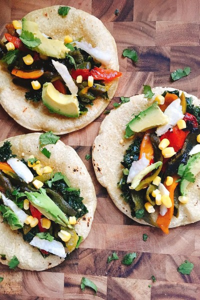 Vegan Roasted Pepper Tacos