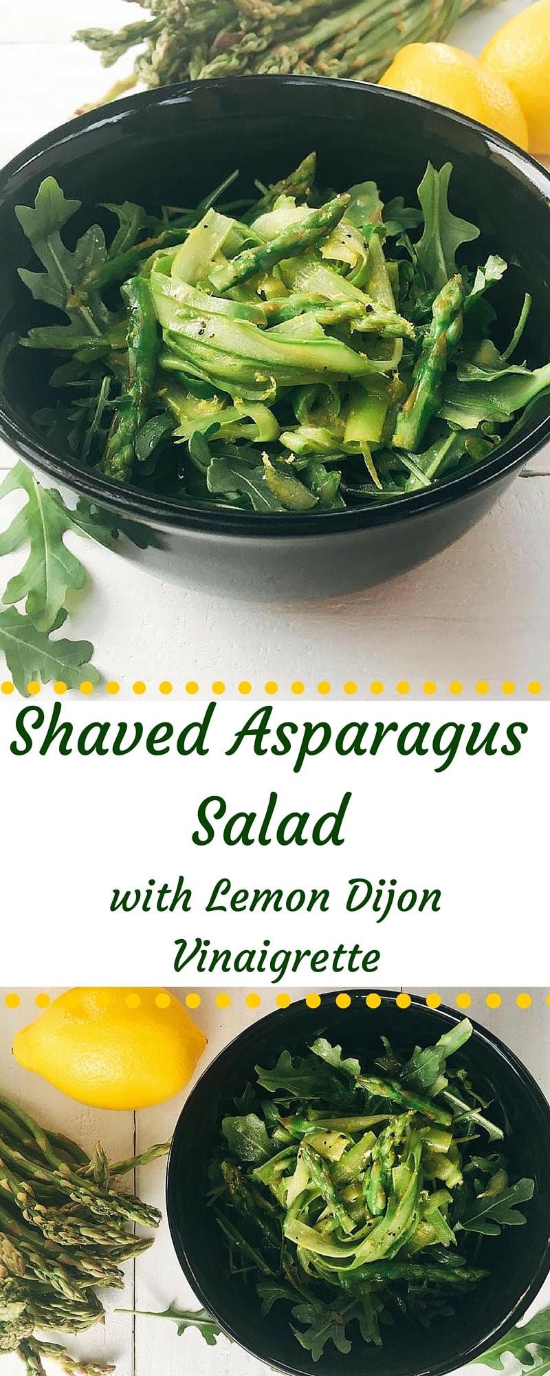 Shaved Asparagus Salad with Lemon Dijon Vinaigrette | Three Olives ...