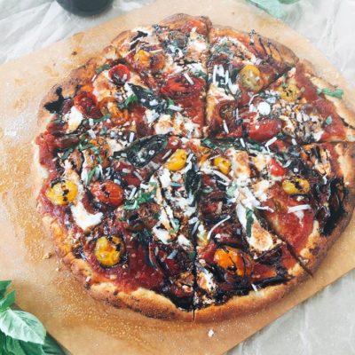Balsamic Caprese Pizza