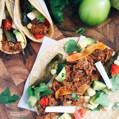 Slow Cooker Shredded Beef Barbacoa Tacos