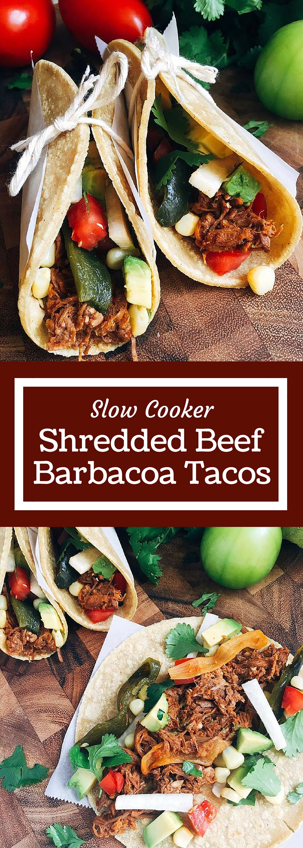 Slow Cooker Shredded Beef Barbacoa Tacos - Three Olives Branch