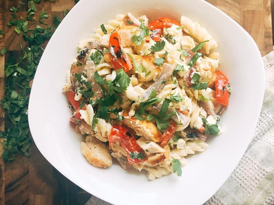 Chicken Fajita Pasta Salad Three Olives Branch