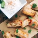 Mexican Spring Rolls with Cilantro Lime Dip