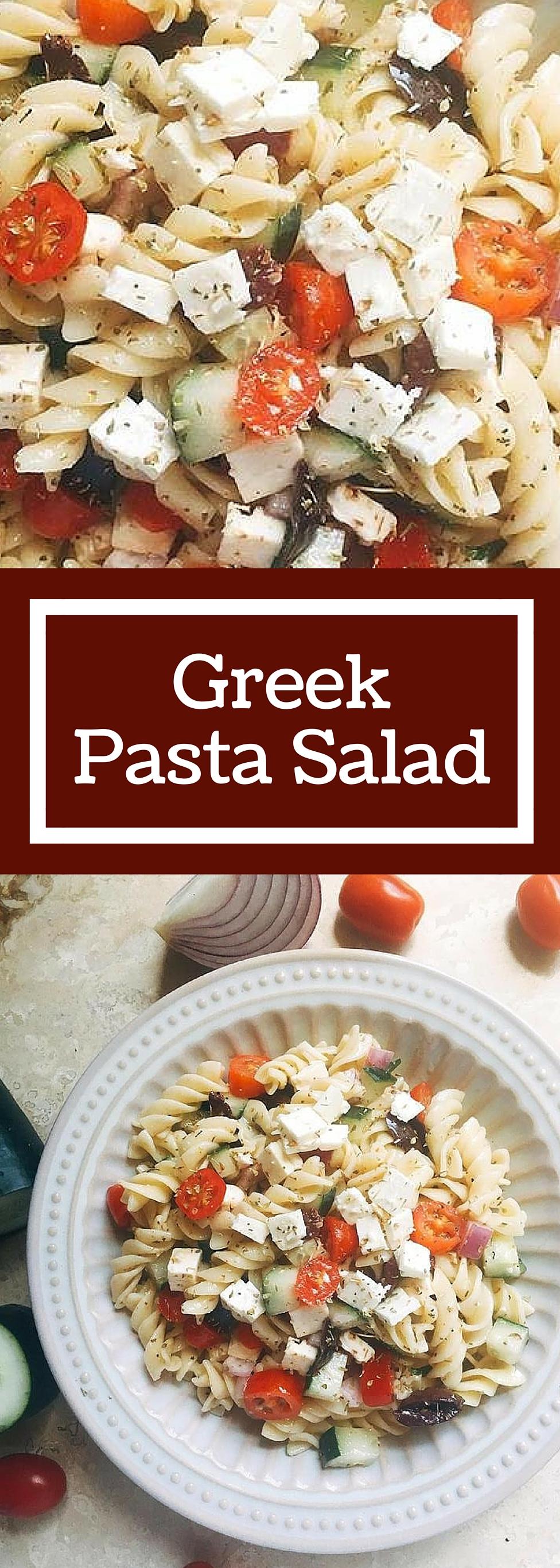Greek Pasta Salad Three Olives Branch