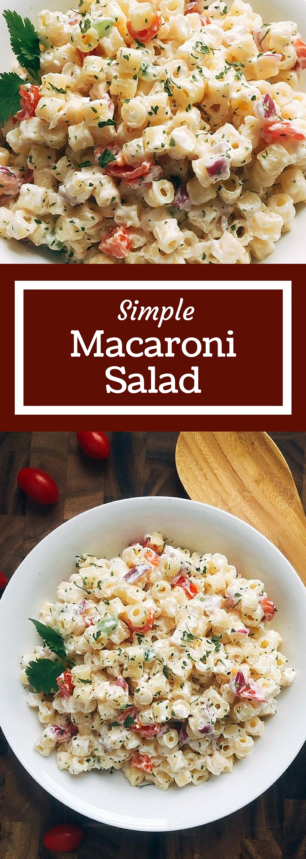 This Simple Macaroni Salad is simple to make a a crowd pleaser! A ...