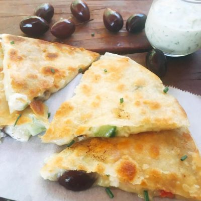 Greek Tzatziki Quesadilla