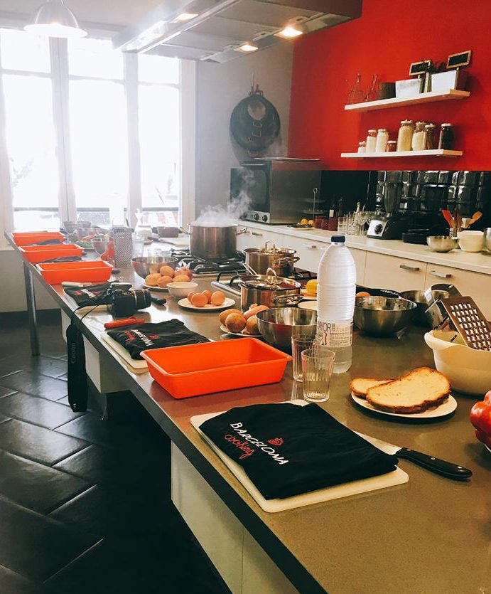 Authentic Spanish cooking class at Barcelona Cooking in Spain - Cooking Studio