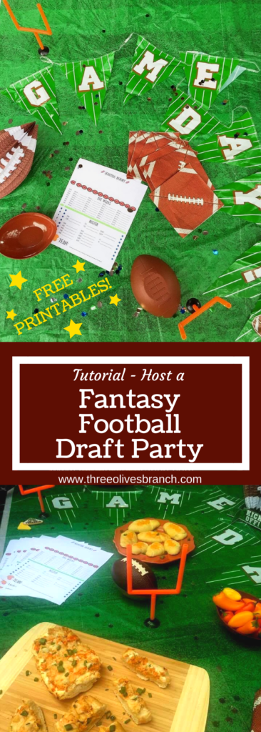 Host a Fantasy Football Draft Party for your league to kick off the American Football season! FREE PRINTABLES included in this tutorial that gets you set up for a competitive season. PLUS Game Day recipes to please the crowd!