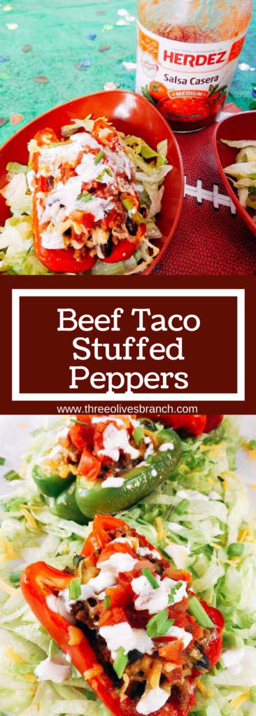 Taco flavors featuring HERDEZ® salsa made healthy in a bell pepper shell. Make in advance for your event and grilled in just 10 minutes! Kid friendly and perfect for the big game.
