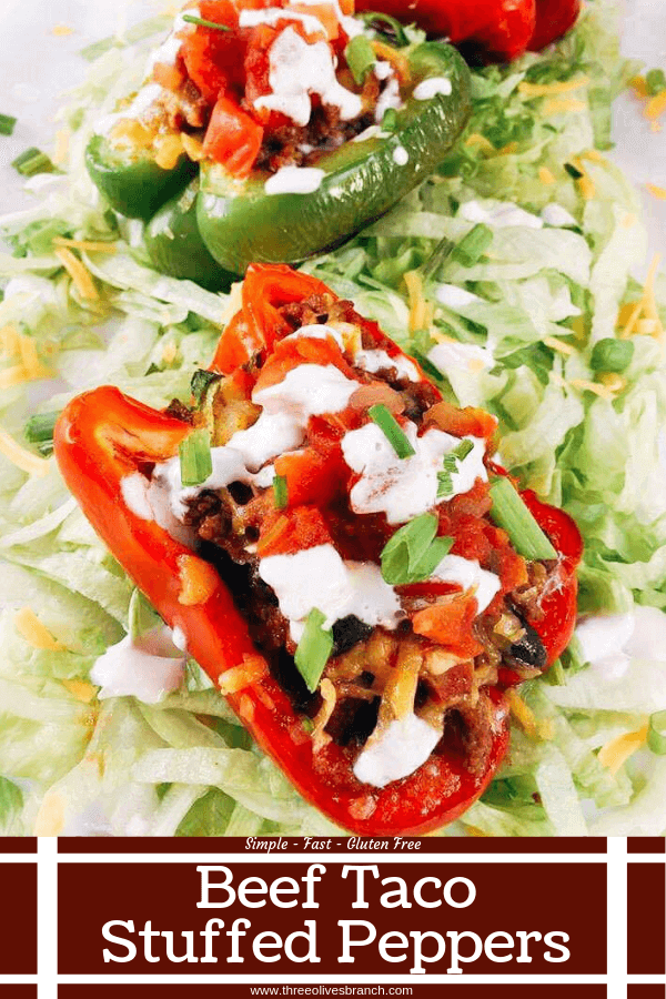 Beef Taco Stuffed Peppers featuring HERDEZ® salsa made healthy in a bell pepper shell. Make in advance for your event and grilled in just 10 minutes! Kid friendly recipe and perfect for the big game. #mexicanrecipes #grillingrecipes #tacorecipes #superbowlrecipes #gameday