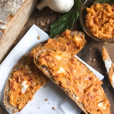 Sun-Dried Tomato Roasted Garlic Compound Butter