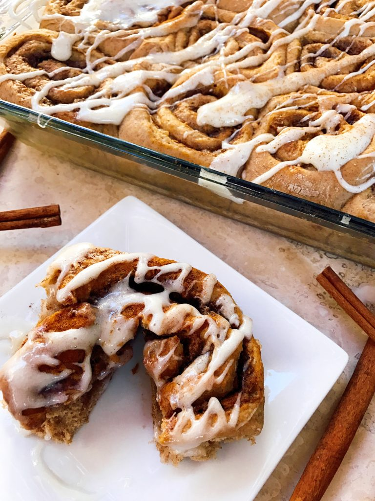 ... Pumpkin Spice Cinnamon Rolls with Maple Cream Cheese Glaze are perfect