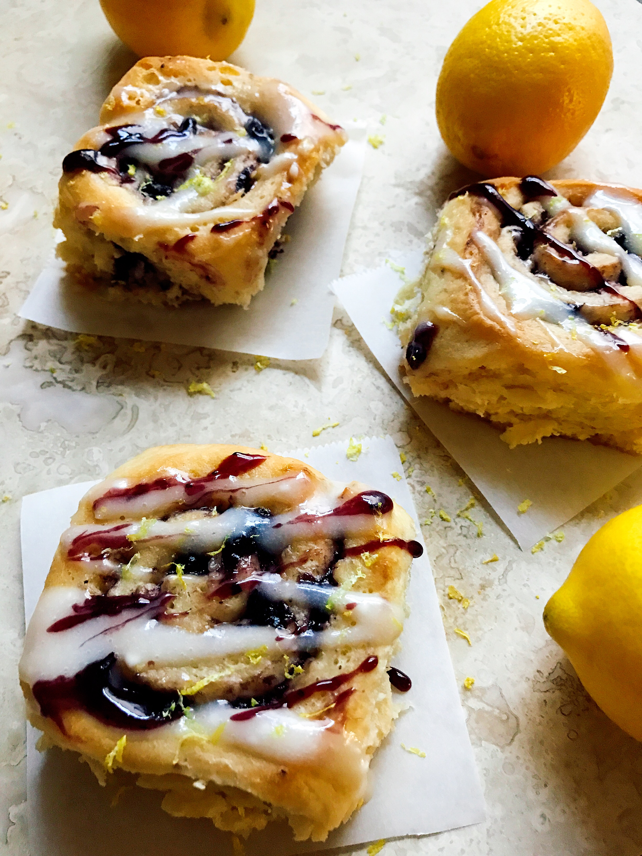 ... sweet. Perfect for breakfast and brunch! Blueberry Lemon Sweet Rolls