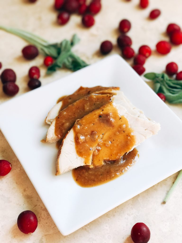A fast and easy recipe to Learn How to Make Turkey Pan Gravy. Just a few minutes while the turkey is resting and you will have a flavorful and quick gravy for Thanksgiving, Christmas, or any holiday. Three Olives Branch | www.threeolivesbranch.com