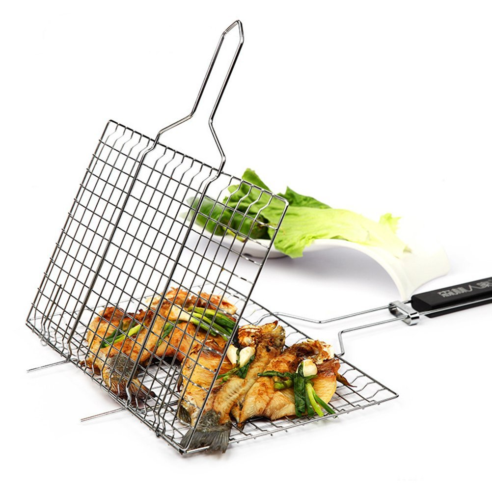 Fish Grill Basket - A perfect gift for the grill lover in your life! Great for Dad, husband, men, and women. Present for Christmas, Hanukkah, birthdays, or any other gift giving holiday! | 20 Gift Ideas for Grill Lovers | Three Olives Branch | www.threeolivesbranch.com