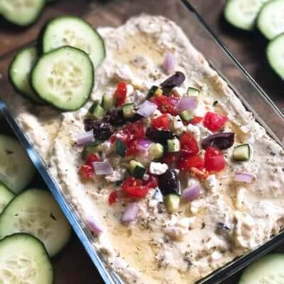 Greek Tzatziki Hummus