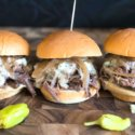Bourbon Blue Cheese Steak Sliders