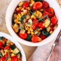 Zucchini and Tomato Medley with White Wine Butter Sauce