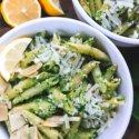 Spinach Artichoke Pesto Pasta