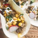 Pork Carnitas Mexican Street Corn Tacos
