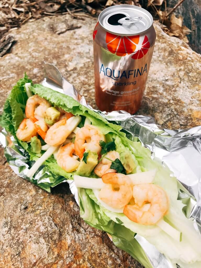 Less than 30 minutes for these simple and fresh shrimp tacos. Perfect for on-the-go food, full of bright and fresh flavors. Shrimp, orange, grapefruit, avocado, and jicama inspired by Aquafina Sparkling Water. A great twist on a seafood taco for Mexican night. Quick and easy to make, perfect for summer. Grapefruit Orange Shrimp Tacos with Jicama Slaw | Three Olives Branch | www.threeolivesbranch.com