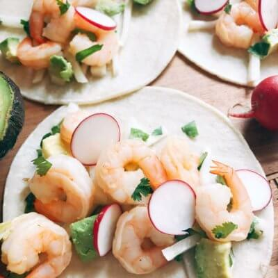 Grapefruit Orange Shrimp Tacos with Jicama Slaw
