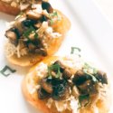 Buttered Chicken and Mushroom Crostini