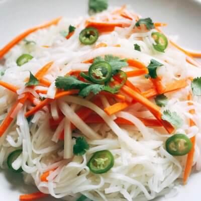 Vietnamese Pickled Vegetable Rice Noodle Salad