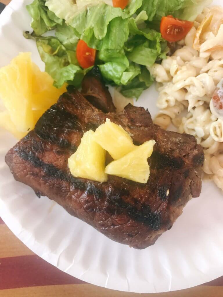 Pineapple Soy Steaks - Three Olives Branch