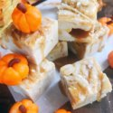 Salted Caramel Pumpkin Spice Fudge