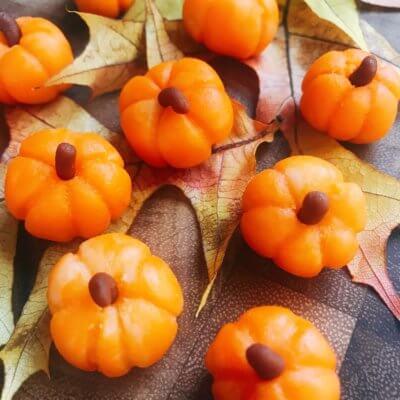 How to Make Marzipan Pumpkins