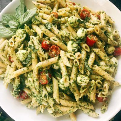 Pesto Caprese Penne Pasta