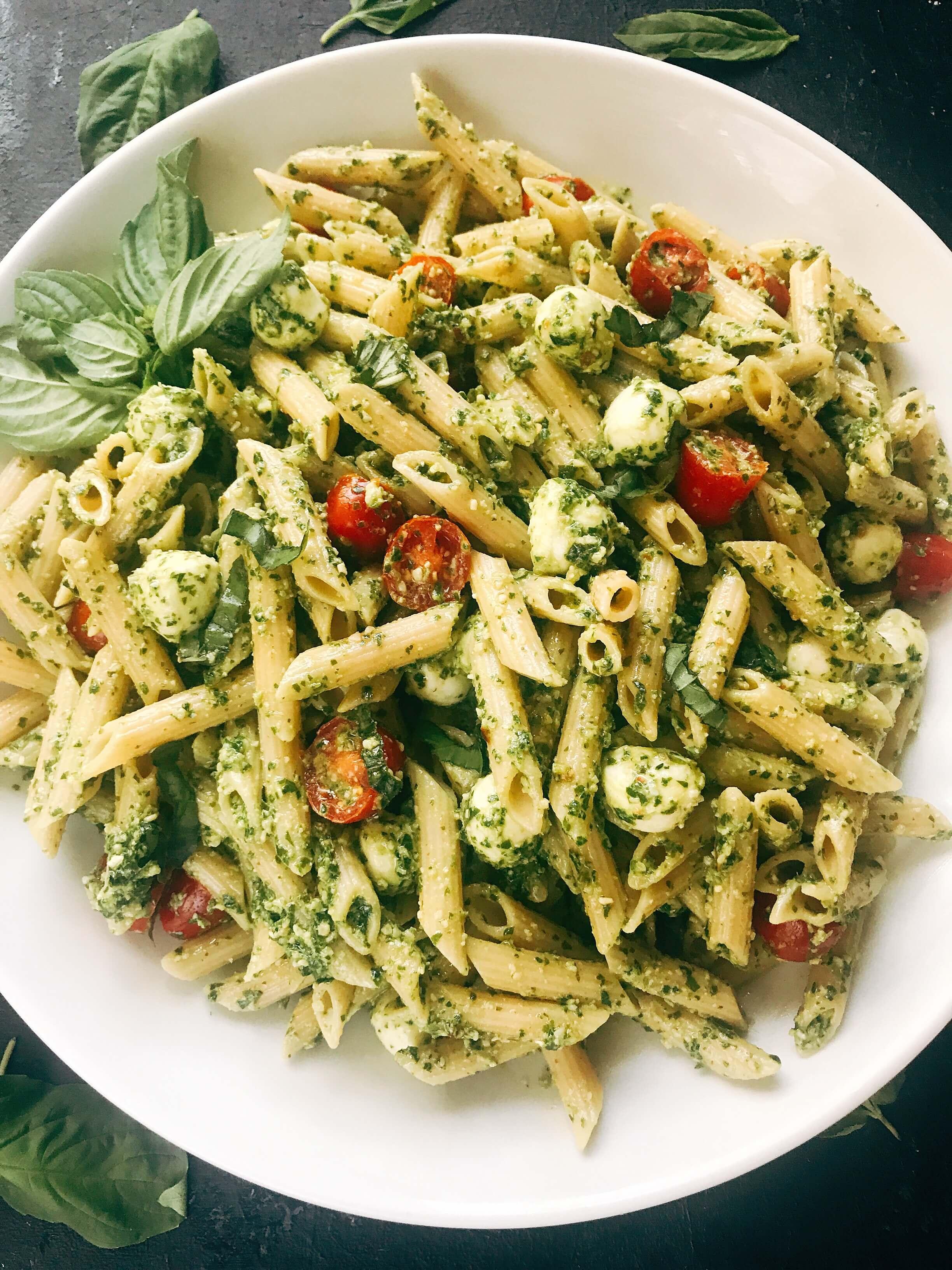 Pesto Caprese Penne Pasta - Three Olives Branch