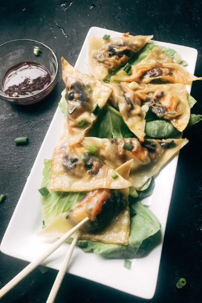Mongolian Vegetarian Potstickers