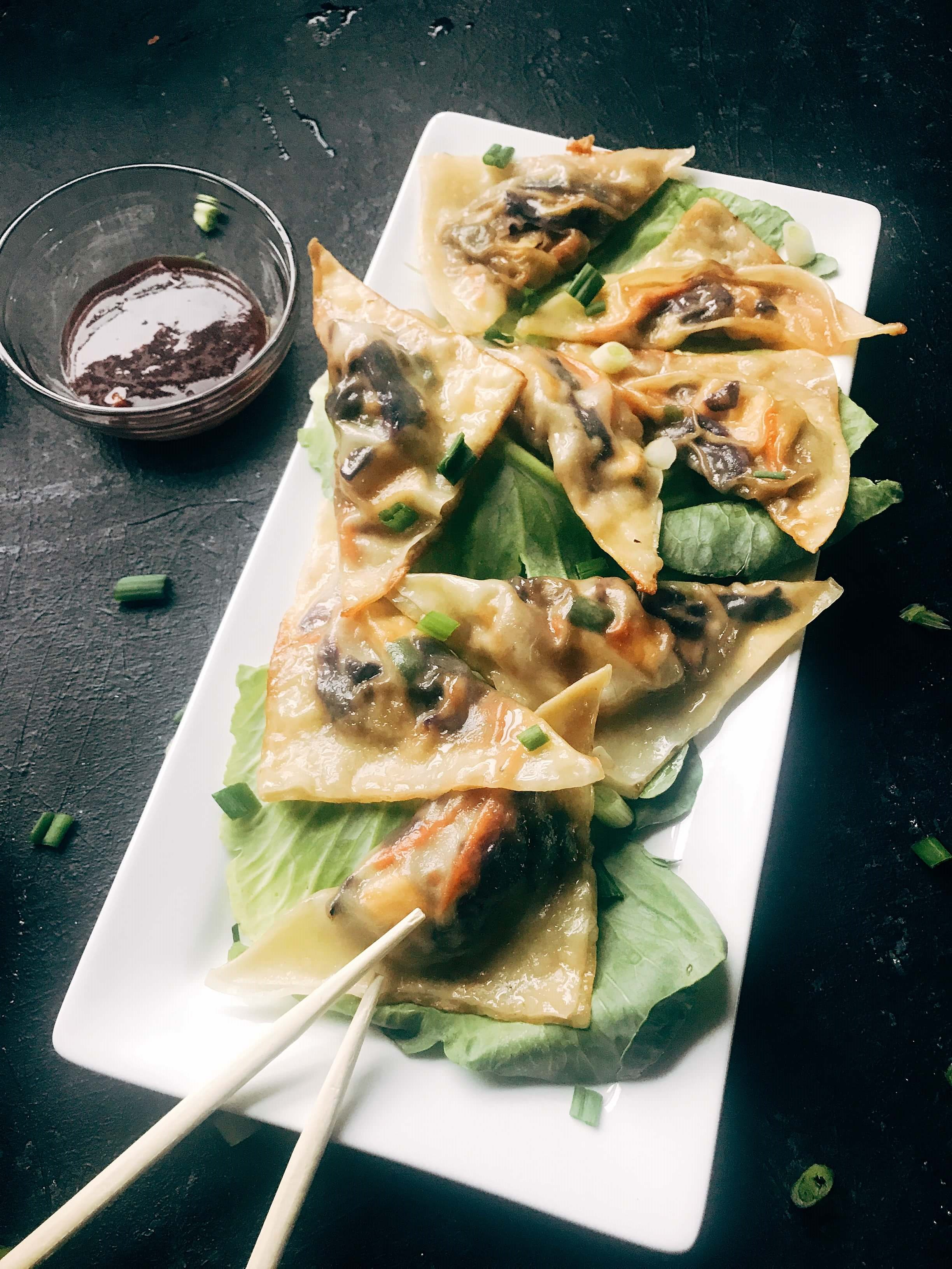 Mongolian Vegetarian Potstickers - Three Olives Branch