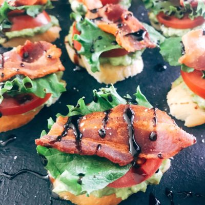 Avocado BLT Crostini