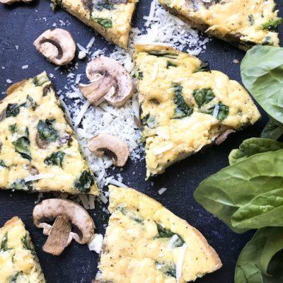 Vegetarian Spinach Florentine Frittata