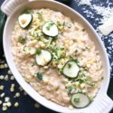 Zucchini Corn Risotto with Parmesan Cheese