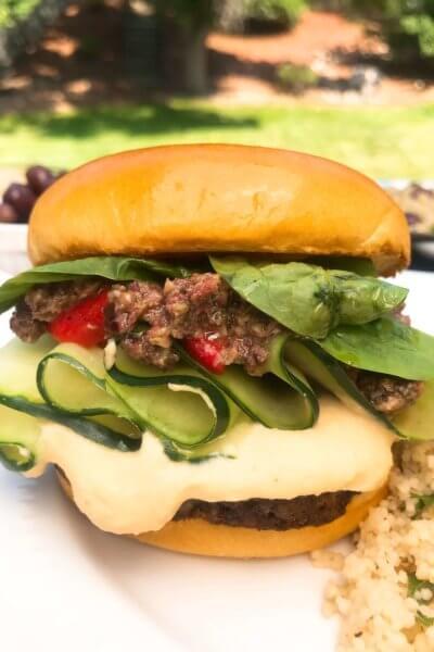 Vegan Mediterranean Burgers
