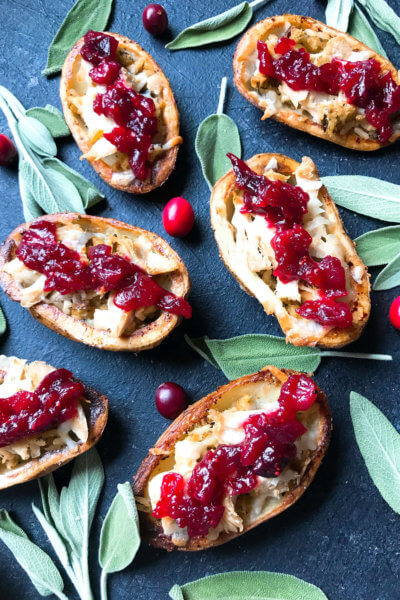 Thanksgiving Leftovers Potato Skins